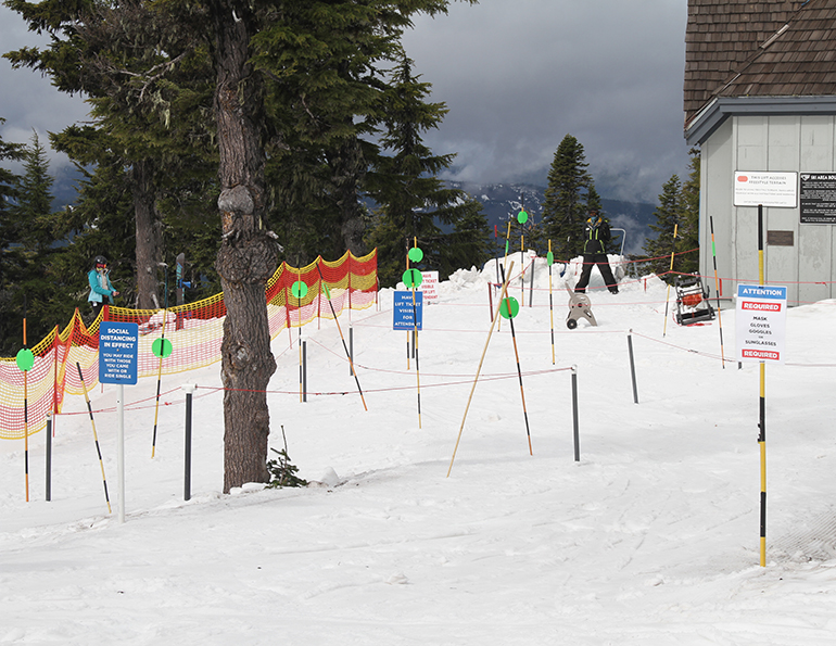 Timberline reopens lift line signs