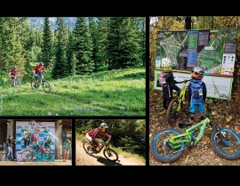 Clockwise startiGroup ride at Big Sky, Mont.; kids rule at Silver Mountain, Idaho; downhill at Killington, Vt.; podium at a women's enduro race at Silver.