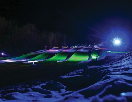 Powder Ridge, Minn., needed minimal investment to create a Laser Light Tubing experience, and the return has been significant.
