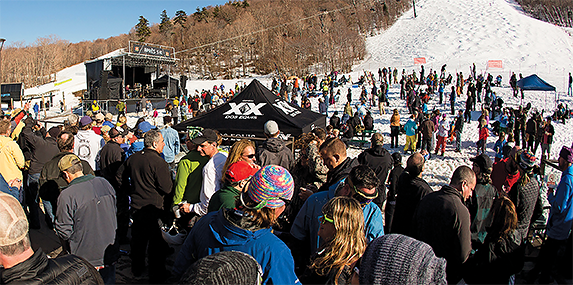 The base of Killington's Superstar trail has the space to host major events.