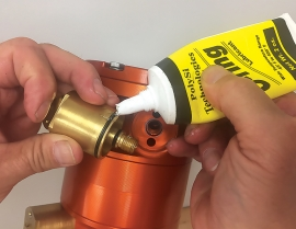 Clean nozzles and O-rings with brush, tip cleaner, compressed air, or water.